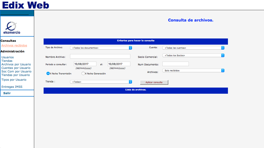 Edix Web y Order to cash